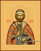 князь Игорь благоверный икона на дереве печатная