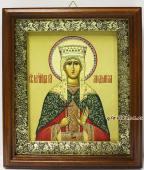 Людмила Чешская, икона в киоте