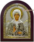 Блаженная Матрона икона в серебре