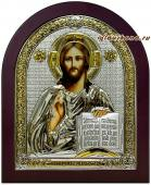 посеребренная икона Господа Вседержителя
