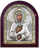 Икона святой Ксении Петербургской, посеребренная