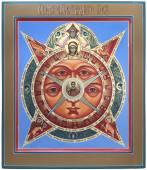 Всевидящее око Божие рукописная икона артикул 432