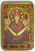 Покров Божия Матерь икона подарочная 10х15 см