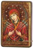 Умягчение злых сердец Божия Матерь, подарочная икона на дубе, малая