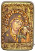 Казанская Божия Матерь, подарочная икона на дубе, малая