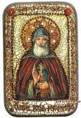 Илья Муромец, Печерский, подарочная икона на дубе, малая