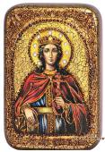 Екатерина Великомученица подарочная икона на дубе малая