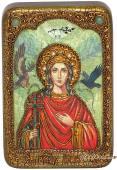 Ирина Македонская, подарочная икона на дубе, малая