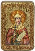 Наталья Никомидийская, подарочная икона на дубе, малая