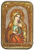 Мария Магдалина подарочная икона на дубе малая