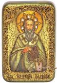 Василий Великий икона подарочная 10х15 см
