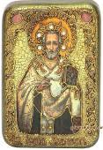 Иоанн Златоуст, подарочная икона на дубе, малая