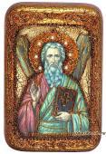Андрей Первозванный, подарочная икона на дубе, малая