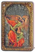 Иоанн Богослов, подарочная икона на дубе, малая