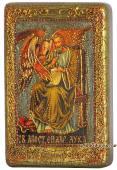 Лука Апостол подарочная икона на дубе малая