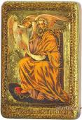 Матфей Апостол подарочная икона на дубе малая