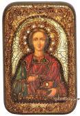 Пантелеймон Целитель, подарочная икона на дубе, малая