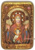 Знамение Божия Матерь икона подарочная 10х15 см