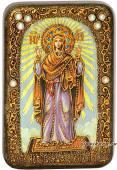 Нерушимая стена Божия Матерь, подарочная икона на дубе, малая