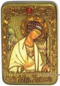 Ангел Хранитель светлый фон икона подарочная 10х15 см