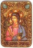 Ангел Хранитель, с мечом, подарочная икона на дубе, малая