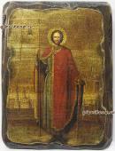Александр Невский - икона состаренная