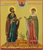 Икона Петр и Феврония в византийском стиле артикул 819