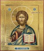 Икона Господа с чеканкой в стиле палеха, артикул 634