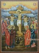Рукописная икона Голгофа