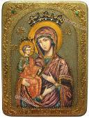 Икона Троеручица сделанная под старину