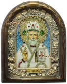 Николай святитель Мирликийский икона бисером