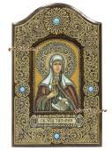 Икона Татьяны сделанная из бересты