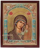 Казанская икона в серебре со стразами