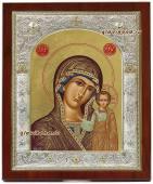 Икона Казанская серебро