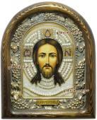 Спас Нерукотворный икона из бисера в киоте
