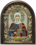 Татьяна - икона из бисера в киоте