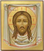 Икона Спас Нерукотворный на золотом фоне, артикул 041