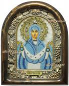 Покров Пресятой Богородицы, икона бисером