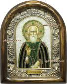 икона Сегрия Радонежского бисером