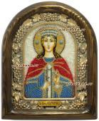 Екатерина Александрийская икона из бисера