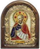 Пророк Елисей, икона бисером