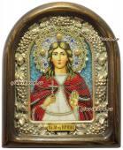 Святая Ирина икона бисером