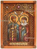 Петр и Феврония икона из бересты