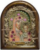 Казанская Божия Матерь из розового бисера