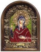 Икона святой Ларисы сделанная из бисера
