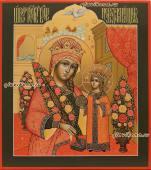 Неувядаемый цвет, икона сделанная иконописцем