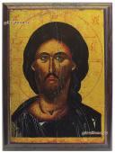 Икона Спасителя на металле артикул 10521
