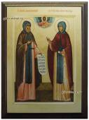 Петр и Феврония подарочная икона на металле