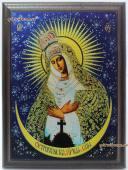 Остробрамская Божия Матерь подарочная икона из металла