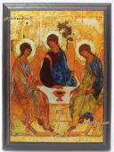 Икона Троица на металле подарочная